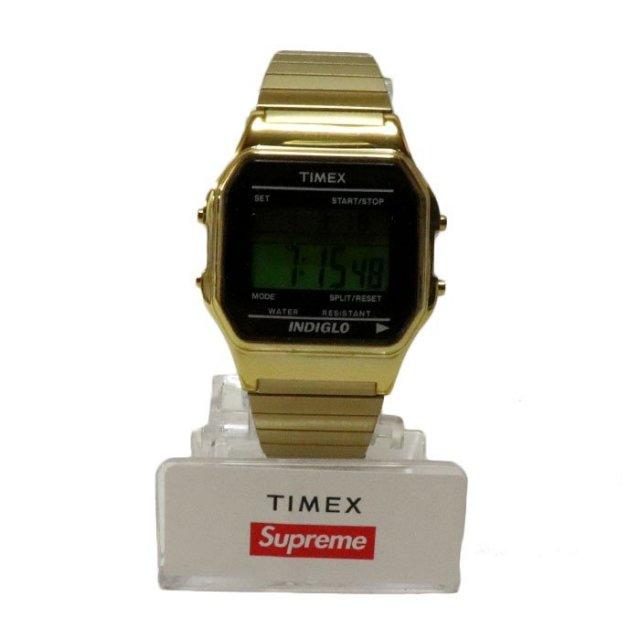 国内正規品 2019AW Supreme x TIMEX Digital Watch Gold 新品未使用品 [ シュプリーム タイメックス デジタル ウォッチ 時計 ゴールド 金 ]