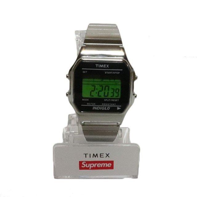 国内正規品 2019AW Supreme x TIMEX Digital Watch Silver 新品未使用品 [ シュプリーム タイメックス デジタル ウォッチ 時計 シルバー 銀 ]
