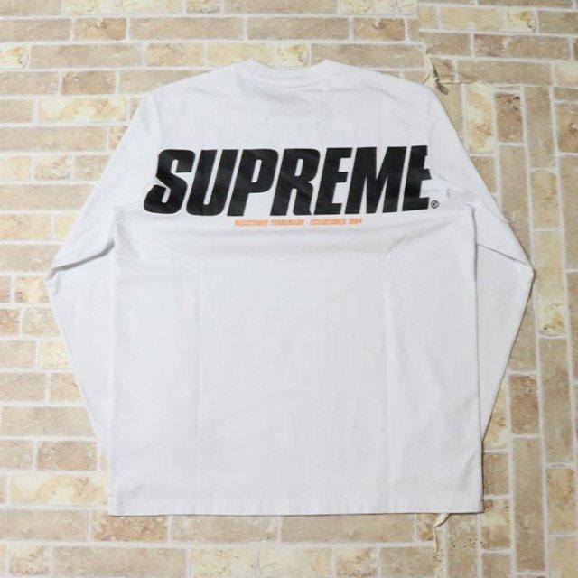 国内正規品 2019AW Supreme Trademark L/S Top White 新品未使用品 [ シュプリーム トレードマーク 長袖 Tシャツ ホワイト 白 ]