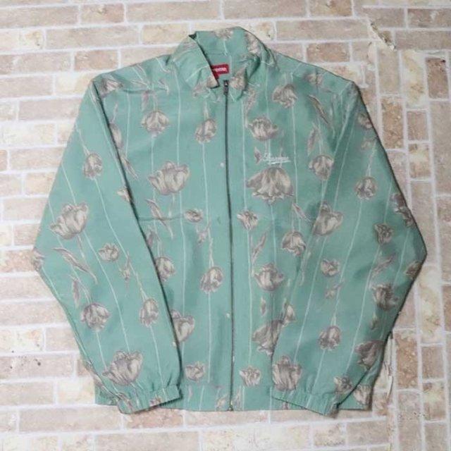 国内正規品 2019SS Supreme Floral Silk Track Jacket Mint 新品未使用品 [ シュプリーム フローラル シルク トラック ジャケット ミント グリーン 緑 ]