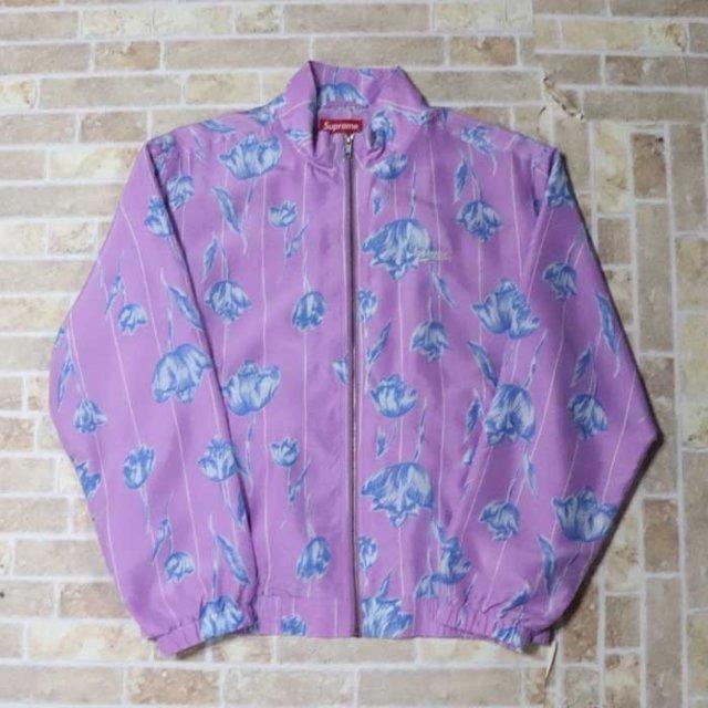 国内正規品 2019SS Supreme Floral Silk Track Jacket Purple 新品未使用品 [ シュプリーム フローラル シルク トラック ジャケット パープル 紫 ]