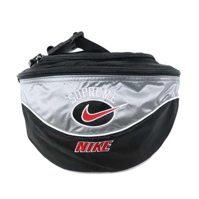 国内正規品 2019SS Supreme × NIKE Shoulder Bag Silver 新品未使用品 [ シュプリーム ナイキ ショルダーバッグ シルバー 銀 ]