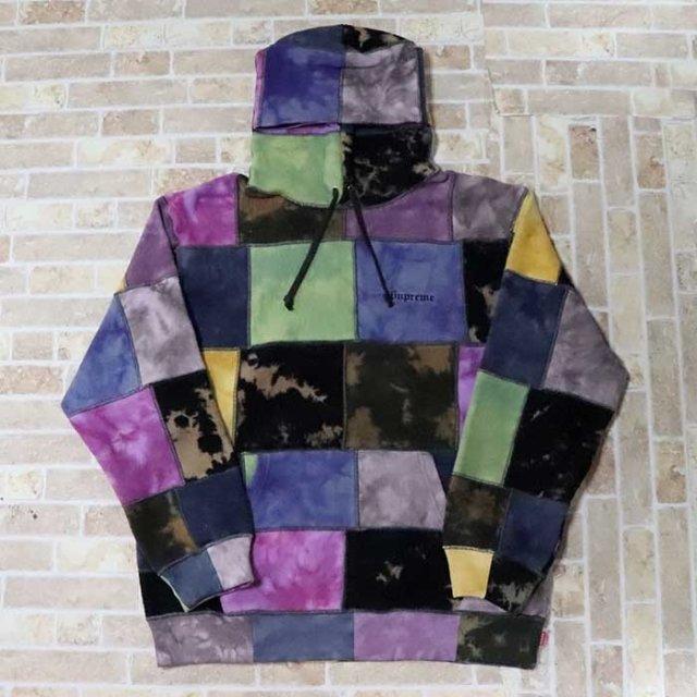 国内正規品 2019SS Supreme Patchwork Tie Dye Hooded Sweatshirt Tie Dye 新品未使用品 [ シュプリーム パッチワーク タイダイ スウェットシャツ フーディー パーカー マルチカラー ]