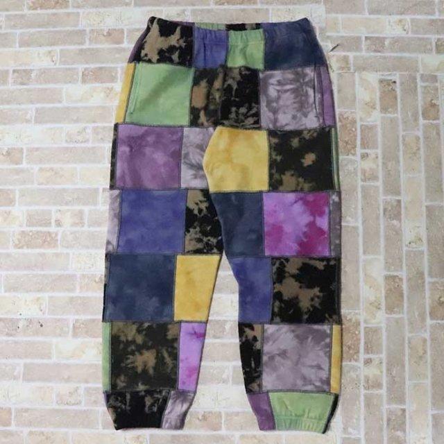 国内正規品 2019SS Supreme Patchwork Tie Dye Sweatpant Tie Dye 新品未使用品 [ シュプリーム パッチワーク タイダイ スウェット パンツ マルチカラー ]