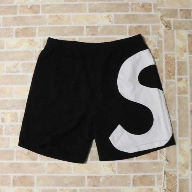 国内正規品 2019SS Supreme S Logo Short Black 新品未使用品 [ シュプリーム ロゴ ショーツ ショートパンツ ブラック 黒 ]