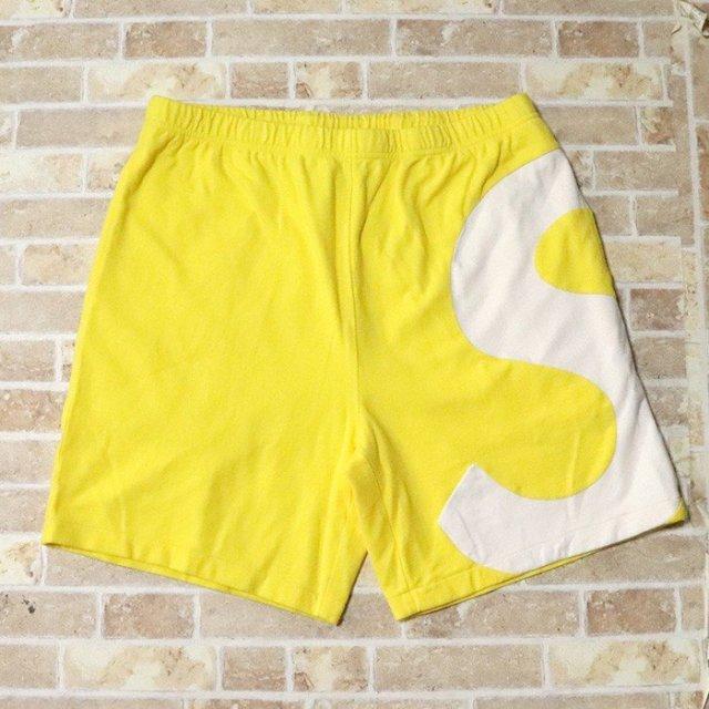 国内正規品 2019SS Supreme S Logo Short Yellow 新品未使用品 [ シュプリーム ロゴ ショーツ ショートパンツ イエロー 黄 ]