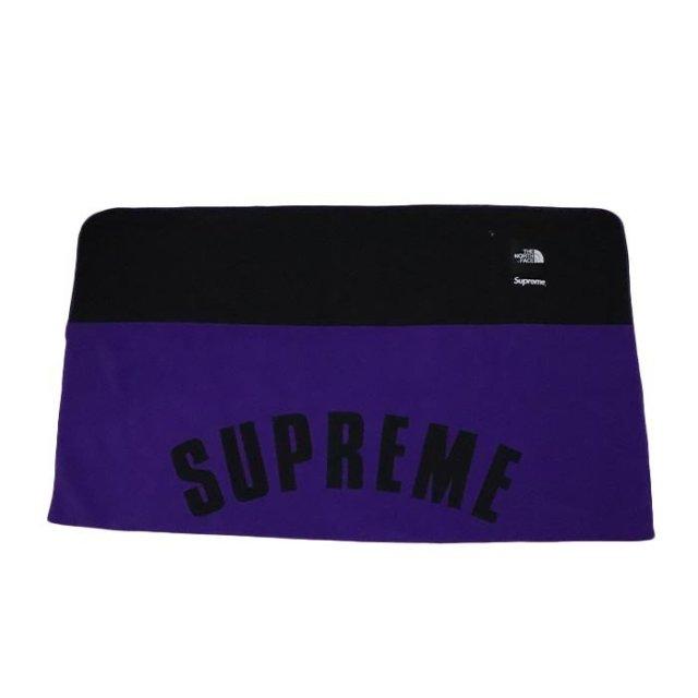 国内正規品 2019SS Supreme × The North Face Arc Logo Denali Fleece Blanket Purple 新品未使用品 [シュプリーム ノースフェイス アーク ロゴ デナリ フリース ブランケット アーチ パープル 紫 ]