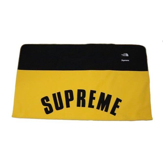 国内正規品 2019SS Supreme × The North Face Arc Logo Denali Fleece Blanket Yellow 新品未使用品 [シュプリーム ノースフェイス アーク ロゴ デナリ フリース ブランケット アーチ イエロー 黄 ]