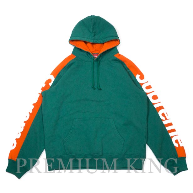 国内正規品 2018SS Supreme Sideline Hooded Sweatshirt Light Pine 新品未使用品 [ シュプリーム サイドライン フーディー パーカー ライト パイン グリーン ]