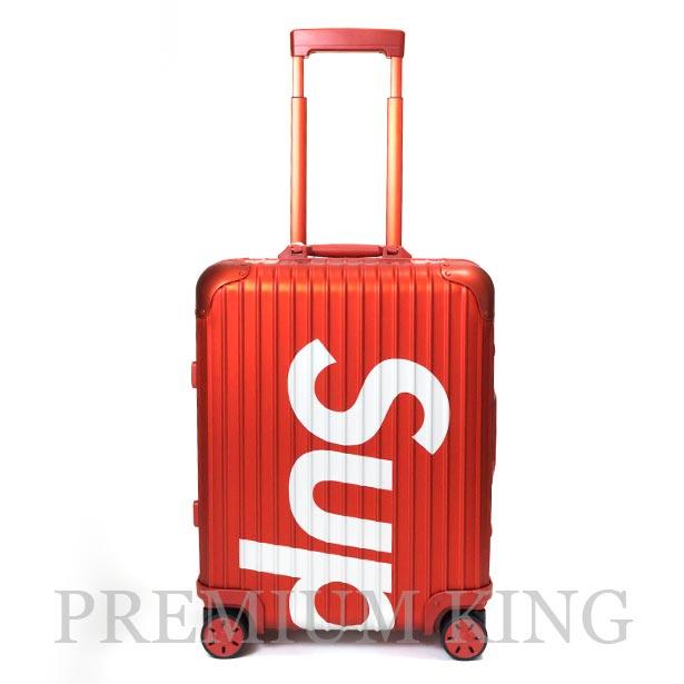 国内正規品 2018SS Supreme × RIMOWA Topas Multiwheel 45L Red 新品未使用品 [ シュプリーム リモワ トパーズ マルチホイール スーツケース レッド ]
