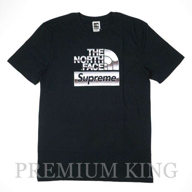国内正規品 2018SS Supreme × The North Face Metallic Logo T-Shirt Black 新品未使用品 [ シュプリーム TNF ノースフェイス メタリック ロゴ Tシャツ TEE ブラック ]