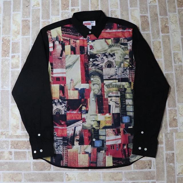 国内正規品 2018AW Supreme × COMME des GARCONS SHIRT Cotton Patchwork Button Up Shirt Multicolor 新品未使用品 [ シュプリーム コムデギャルソン コットン パッチワーク ボタン アップ シャツ マルチカラー ]
