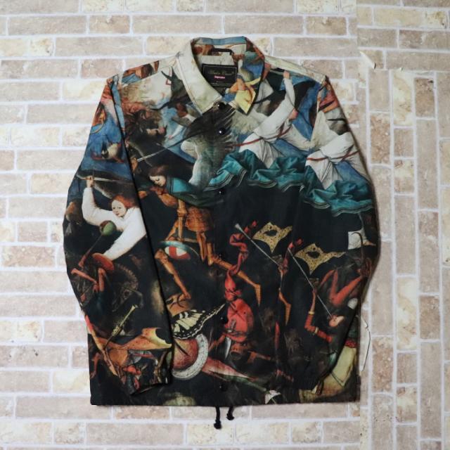 国内正規品 2016AW Supreme × UNDERCOVER Coaches Jacket Multi 美中古品 [ シュプリーム アンダーカバー コーチジャケット マルチ コラボ ]