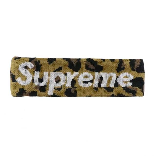 国内正規品 2018AW Supreme × New Era Big Logo Headband Leopard 新品未使用品 [ シュプリーム ニューエラ ビッグロゴ ヘッドバンド レオパード ]