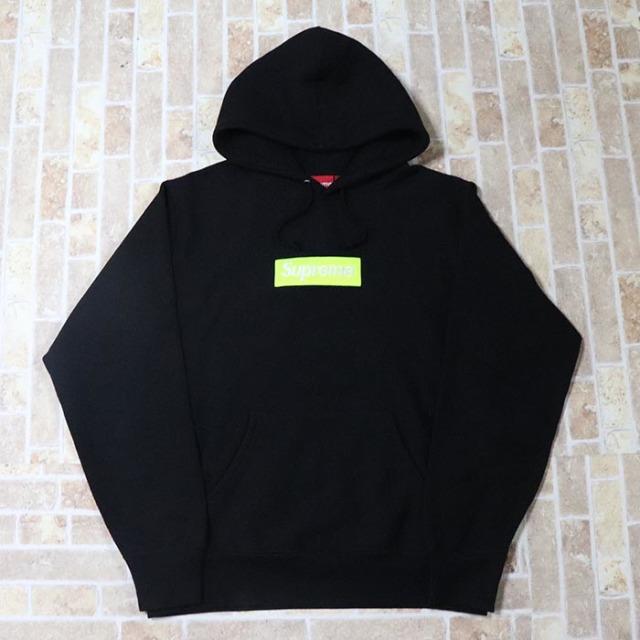 正規品 2017AW Supreme  Box Logo Hooded Sweatshirt Black 美中古品 [ シュプリーム ボックス ロゴ フーディ パーカー ブラック 黒 ]