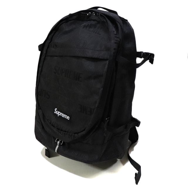 国内正規品 2019SS Supreme Backpack Black 新品未使用品 [シュプリーム バックパック リュック ブラック 黒 ]