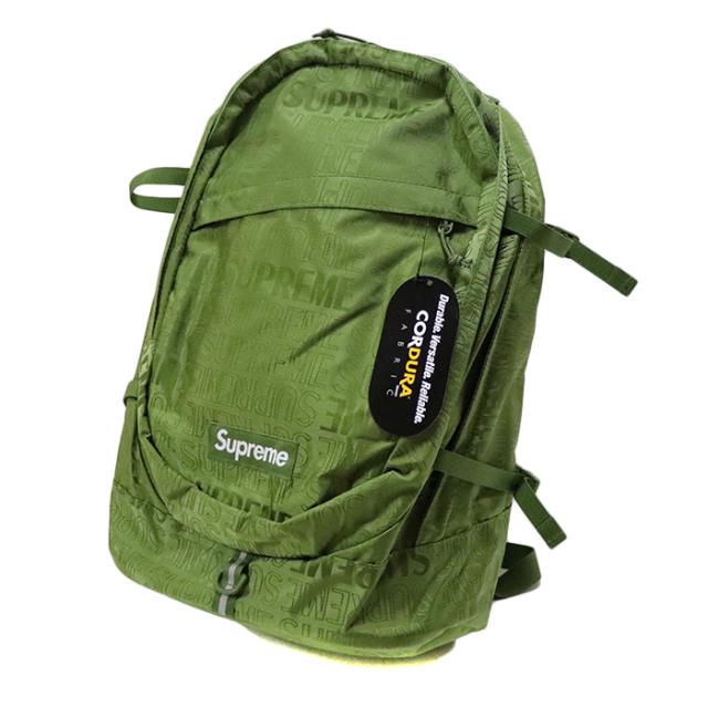 国内正規品 2019SS Supreme Backpack Olive 新品未使用品 [シュプリーム バックパック リュック オリーブ 緑 ]