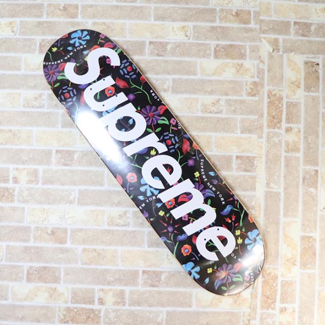 国内正規品 2019SS Supreme Airbrushed Floral Skateboard Black 新品未使用品 [ シュプリーム エアブラシ フローラル スケートボード デッキブラック 黒 花柄 ]