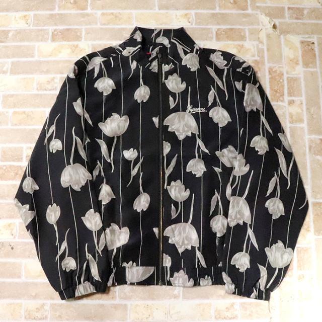 国内正規品 2019SS Supreme Floral Silk Track Jacket Black 新品未使用品 [ シュプリーム フローラル シルク トラック ジャケット ブラック 黒 ]