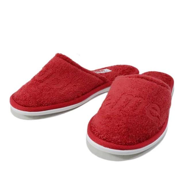 国内正規品 2019SS Supreme × Frette Slippers Red 新品未使用品 [ シュプリーム フレッテ スリッパ レッド 赤 ]
