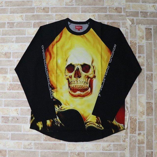 国内正規品 2019SS Supreme Ghost Rider Raglan L/S Top Black 新品未使用品 [ シュプリーム ゴーストライダー ラグラン ロングスリーブTシャツ ロンT ブラック 黒 ]