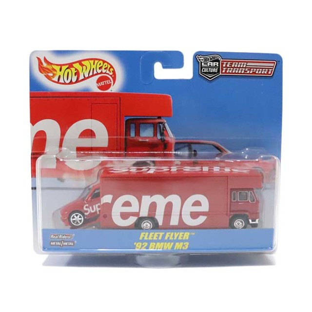 国内正規品 2019SS Supreme × Hot Wheels Fleet Flyer + 1992 BMW M3 Red 新品未使用品 [ シュプリーム ホットホイールズ フリート フライヤー レッド 赤 ]