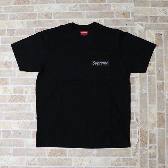 国内正規品 2019SS Supreme Mesh Stripe Pocket Tee Black 新品未使用品 [シュプリーム メッシュ ストライプ ポケット Tシャツ ブラック 黒 ]