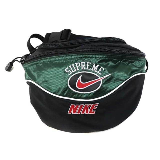 国内正規品 2019SS Supreme × NIKE Shoulder Bag Green 新品未使用品 [ シュプリーム ナイキ ショルダーバッグ グリーン 緑 ]
