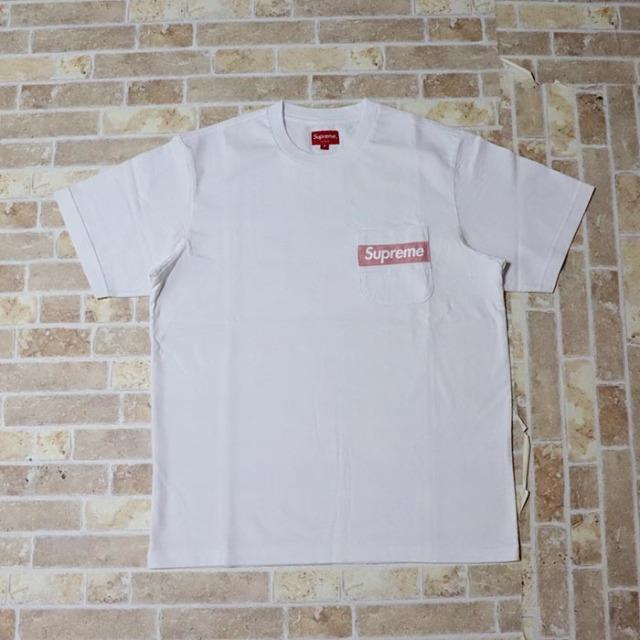 国内正規品 2019SS Supreme Mesh Stripe Pocket Tee White 新品未使用品 [シュプリーム メッシュ ストライプ ポケット Tシャツ ホワイト 白 ]