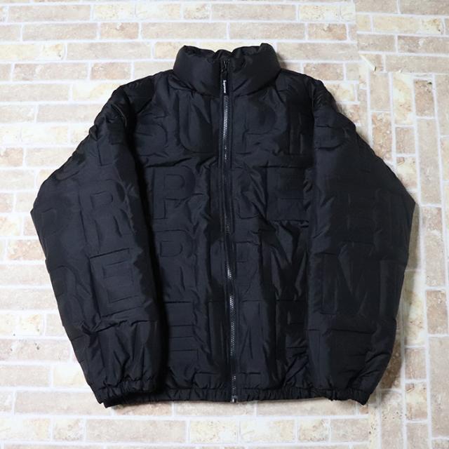 国内正規品 2019SS Supreme Bonded Logo Puffy Jacket Black 新品未使用品 [ シュプリーム ボンデッド ロゴ パフィー ジャケット ブラック 黒 ]