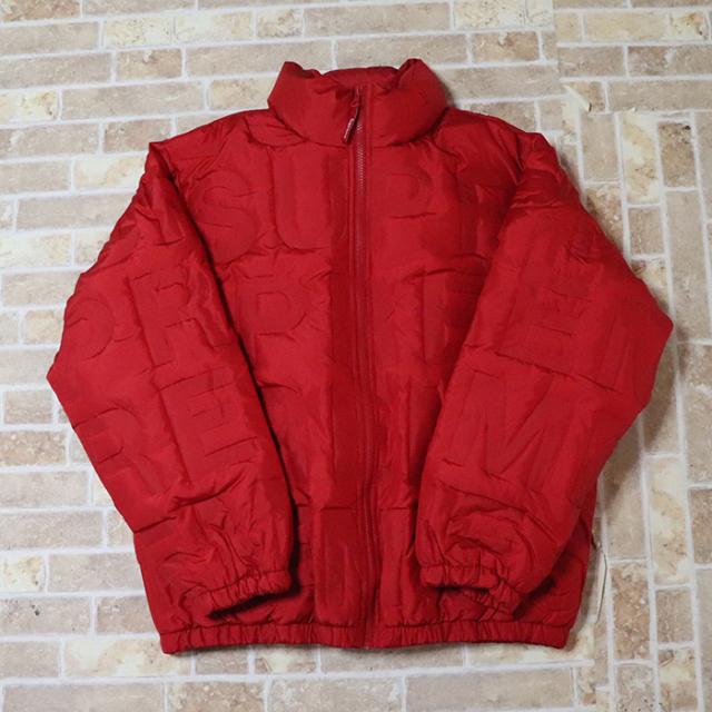 国内正規品 2019SS Supreme Bonded Logo Puffy Jacket Red 新品未使用品 [ シュプリーム ボンデッド ロゴ パフィー ジャケット レッド 赤 ]