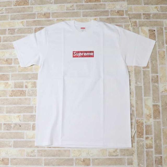 国内正規品 2019SS Supreme x Swarovski Box Logo Tee White 新品未使用品 [ シュプリーム スワロフスキー ボックス ロゴ Tシャツ ホワイト 白 25周年 ]