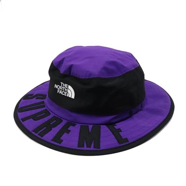 国内正規品 2019SS Supreme × The North Face Arc Logo Horizon Breeze Hat Purple 新品未使用品 [シュプリーム ノースフェイス アーク ロゴ ホライゾンブリーズハット アーチ パープル 紫 ]