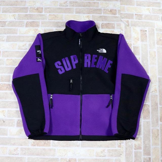国内正規品 2019SS Supreme × The North Face Arc Logo Denali Fleece Jacket Purple 新品未使用品 [シュプリーム ノースフェイス アーク ロゴ デナリ フリース ジャケット アーチ パープル 紫 ]