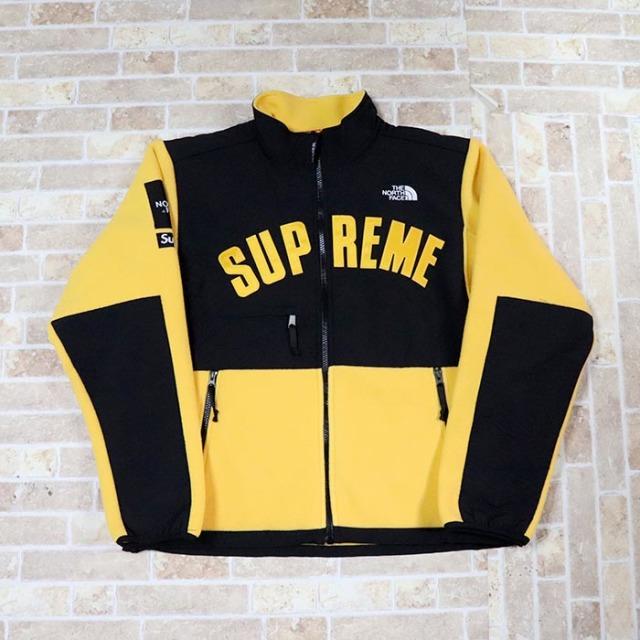 国内正規品 2019SS Supreme × The North Face Arc Logo Denali Fleece Jacket Yellow 新品未使用品 [シュプリーム ノースフェイス アーク ロゴ デナリ フリース ジャケット アーチ イエロー 黄 ]