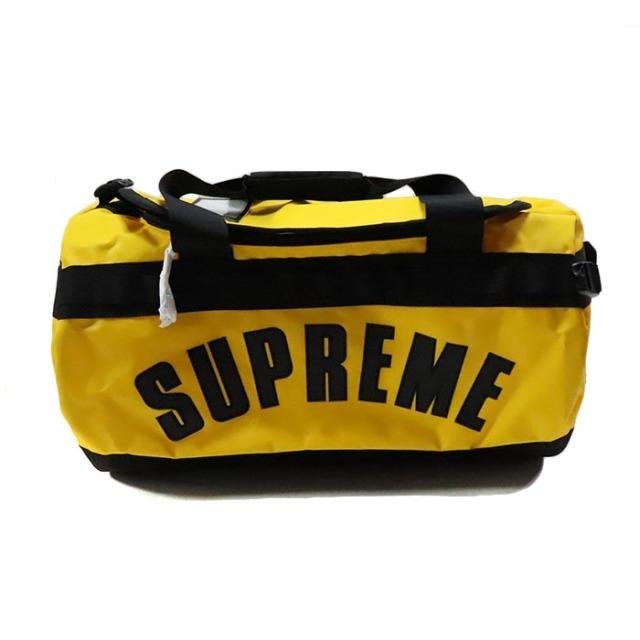 国内正規品 2019SS Supreme × The North Face Arc Logo Base Camp Duffle Bag Yellow 新品未使用品 [シュプリーム ノースフェイス アーク ロゴ ベースキャンプ ダッフルバッグ アーチ イエロー 黄 ]