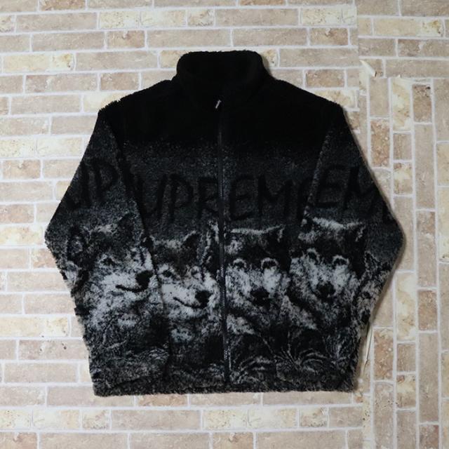 国内正規品 2019SS Supreme Wolf Fleece Jacket Black 新品未使用品 [ シュプリーム ウルフ フリース ジャケット ブラック 黒 ]