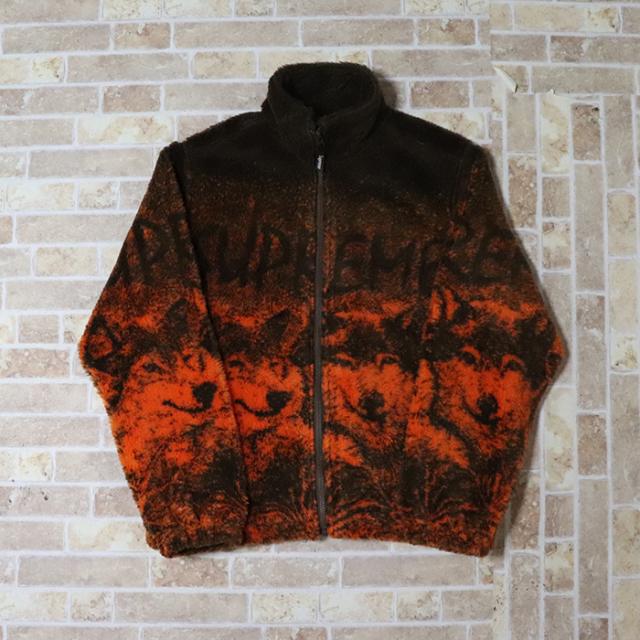 国内正規品 2019SS Supreme Wolf Fleece Jacket Brown 新品未使用品 [ シュプリーム ウルフ フリース ジャケット ブラウン ]