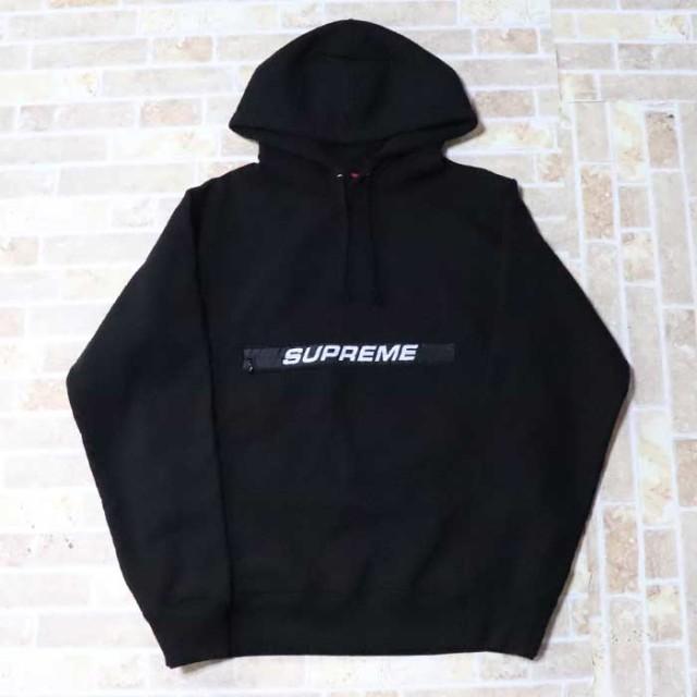 国内正規品 2019SS Supreme Zip Pouch Hooded Sweatshirt Black 新品未使用品 [ シュプリーム ジップ ポーチ フーデッド スウェットシャツ パーカー ブラック 黒 ]