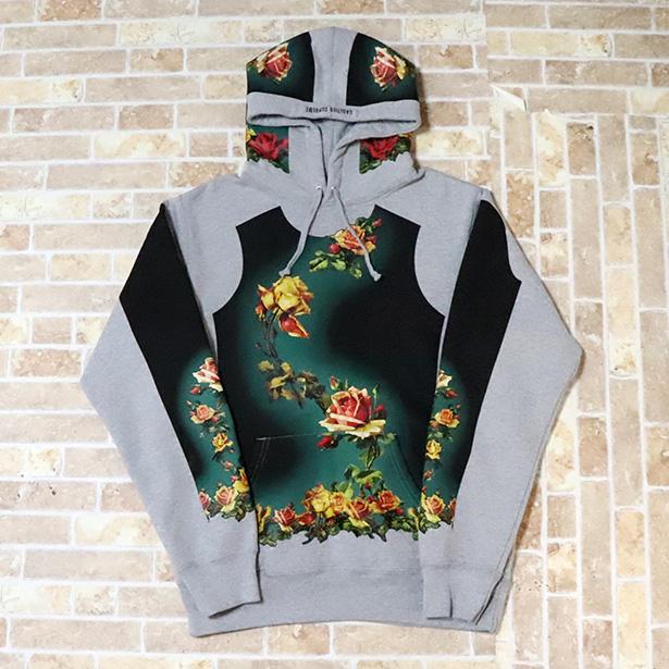 国内正規品 2019SS Supreme × Jean Paul Gaultier Floral Print Hooded Sweatshirt Grey 新品未使用品 [ シュプリーム ジャンポールゴルチェ フローラルプリント フーディー パーカー グレー ]