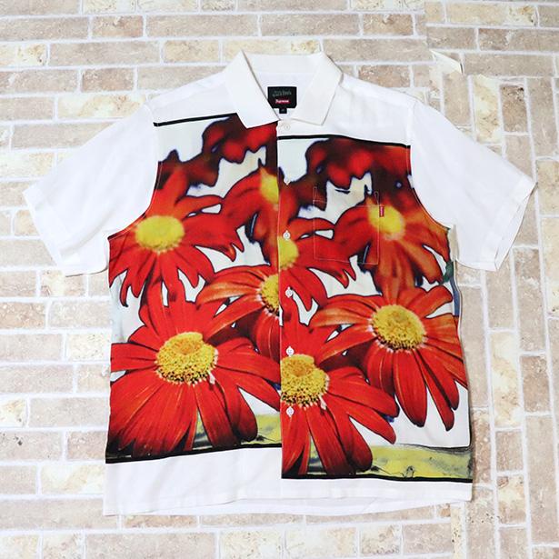 国内正規品 2019SS Supreme × Jean Paul Gaultier Flower Power Rayon Shirt White 新品未使用品 [ シュプリーム ジャンポールゴルチェ フラワープリント レーヨンシャツ ホワイト 半袖 白 ]