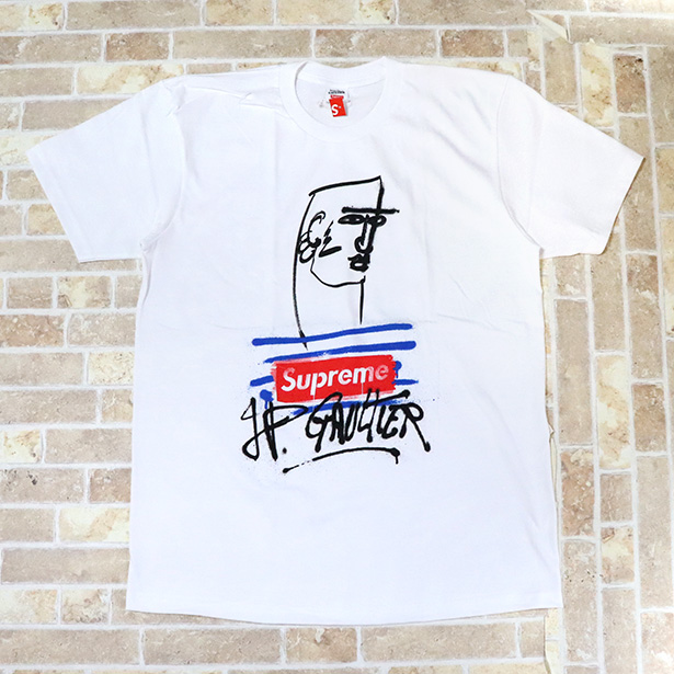 国内正規品 2019SS Supreme × Jean Paul Gaultier Jean Paul Gaultier Tee White 新品未使用品 [ シュプリーム ジャンポールゴルチェ Tシャツ ホワイト 白 ]