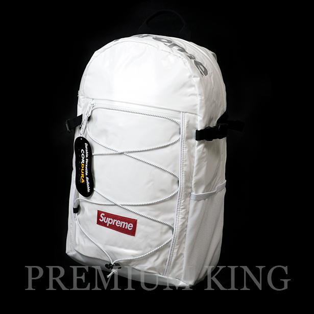 国内正規品 2017AW Supreme 100D Cordura laminated ripstop nylon Backpack White 新品未使用品 [ シュプリーム コーデュラ ラミネート リップストップ ナイロン バックパック ホワイト ]
