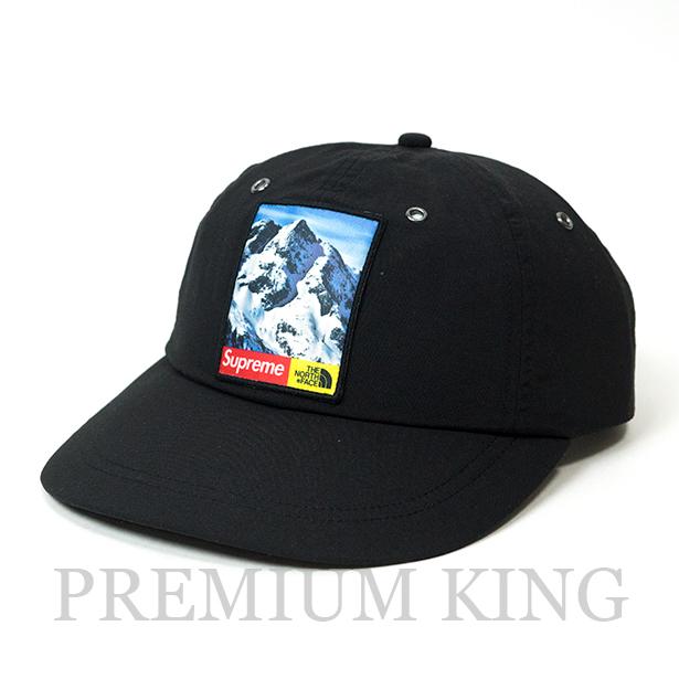 国内正規品 2017AW SUPREME × THE NORTH FACE Mountain 6-Panel Hat BLACK 新品未使用品 [ シュプリーム ノースフェイス マウンテン 6パネル ハット ブラック 黒 ]