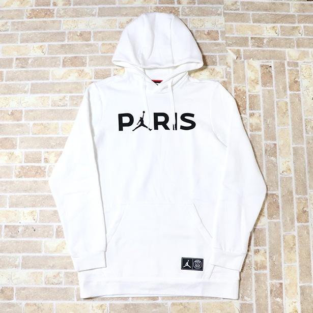 正規品 2019SS NIKE × PSG Paris Saint-Germain Jumpman Pullover Hoodie White 新品未使用品 [ ナイキ パリサンジェルマン ジャンプマン プルオーバー フーディ パーカー ホワイト 白 ]