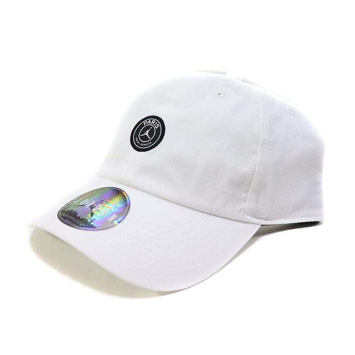 正規品 2019SS NIKE × PSG Paris Saint-Germain Small Circle Logo CAP White 新品未使用品 [ ナイキ パリサンジェルマン エア ジョーダン ロゴ キャップ 白 ]