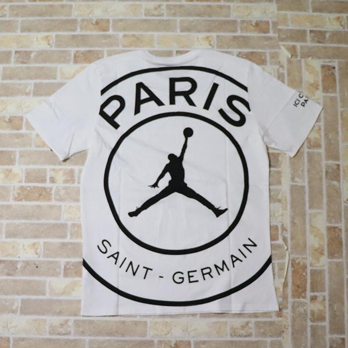正規品 2019 NIKE Paris Saint-Germain AIR JORDAN PSG Circle Logo T-Shirt White 新品未使用品 [ ナイキ パリサンジェルマン エア ジョーダン ロゴ Tシャツ 白 ]