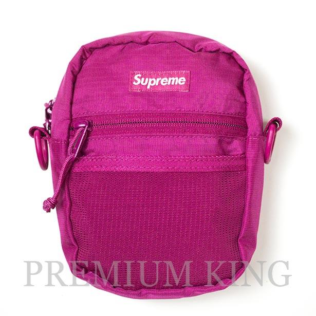 国内正規品 2017SS Supreme 210D Cordura ripstop nylon Small Shoulder Bag Pink 美中古品 [ シュプリーム コーデュラ リップストップ ナイロン スモール ショルダー バッグ ピンク ]
