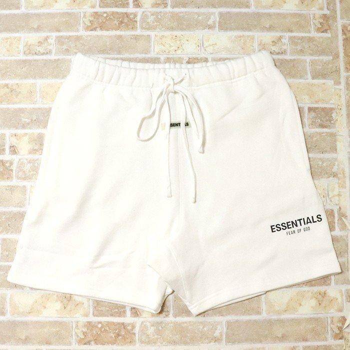 国内正規品 2019AW FOG ESSENTIALS Sweat Shorts White 新品未使用品 [ フィアオブゴッド エッセンシャルズ ロゴ スウェット ショーツ ホワイト 白 ]