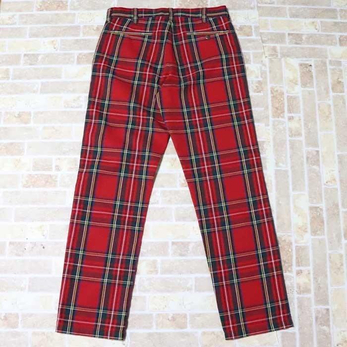 国内正規品 2019SS Supreme Work Pants Royal Stewart 新品未使用品 [ シュプリーム ワーク パンツ ロイヤルスチュワート レッド 赤 ]